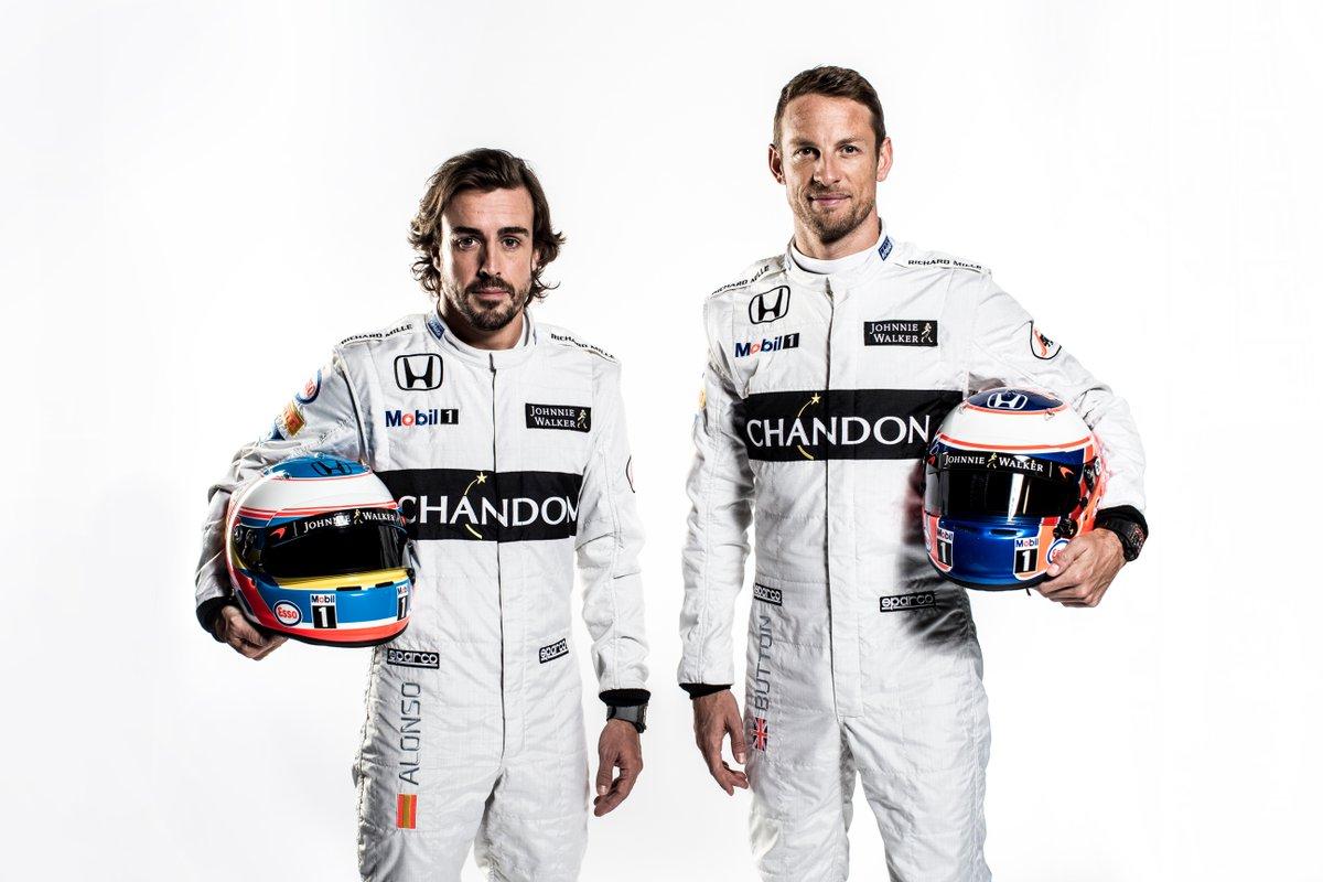 Fernando Alonso y Jenson Button compartirán equipo.