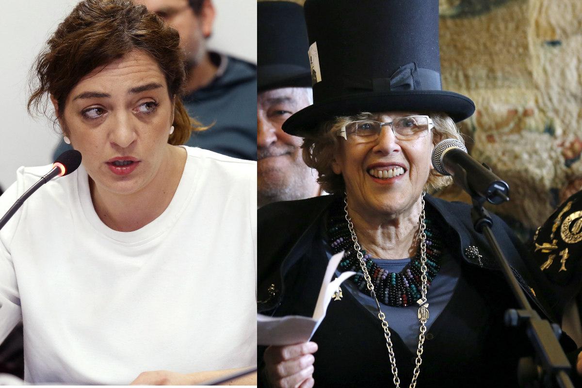 La concejala de Cultura, Celia Mayer, y la alcaldesa de Madrid, Manuela Carmena. (Foto: EFE)