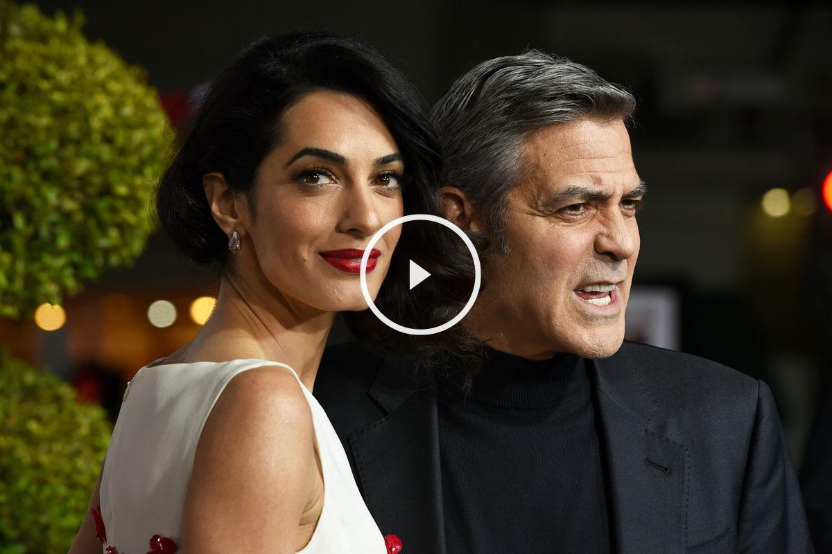 Amal y George Clooney. (Foto: AFP)