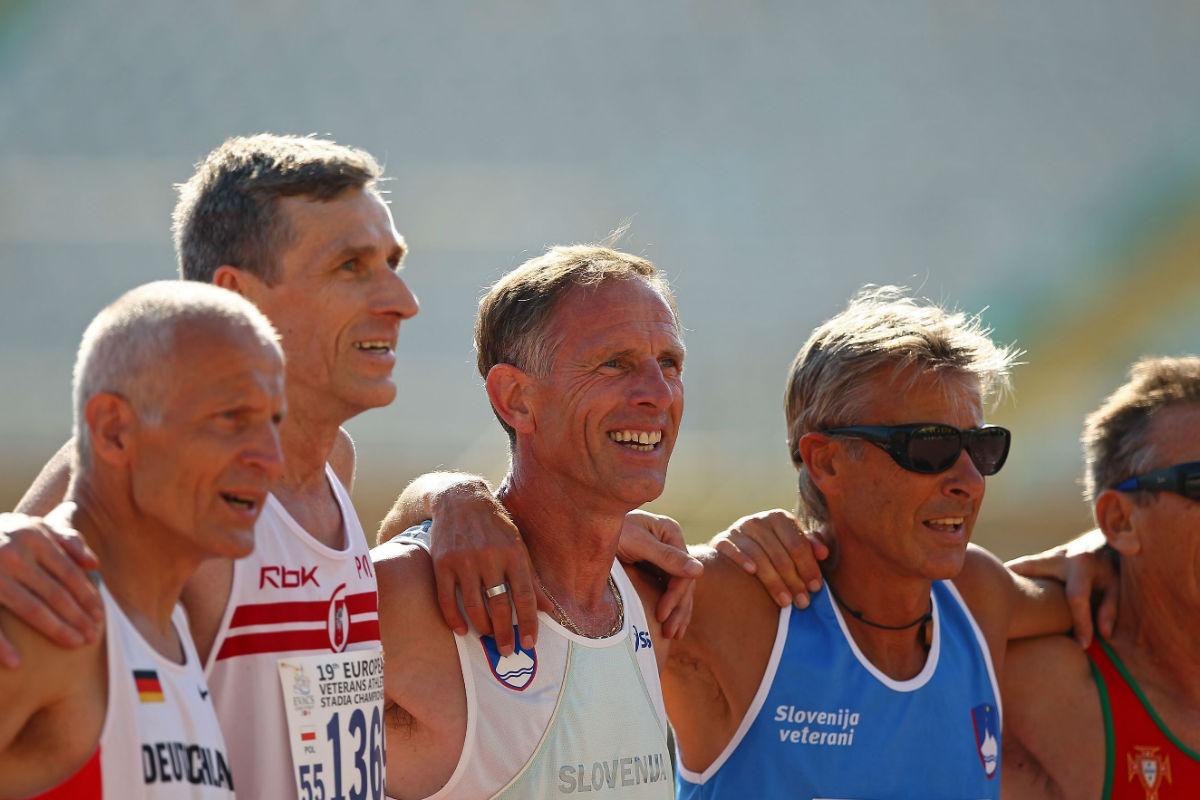 Participantes en el campeonato europeo de atletas veteranos (Foto: GETTY).