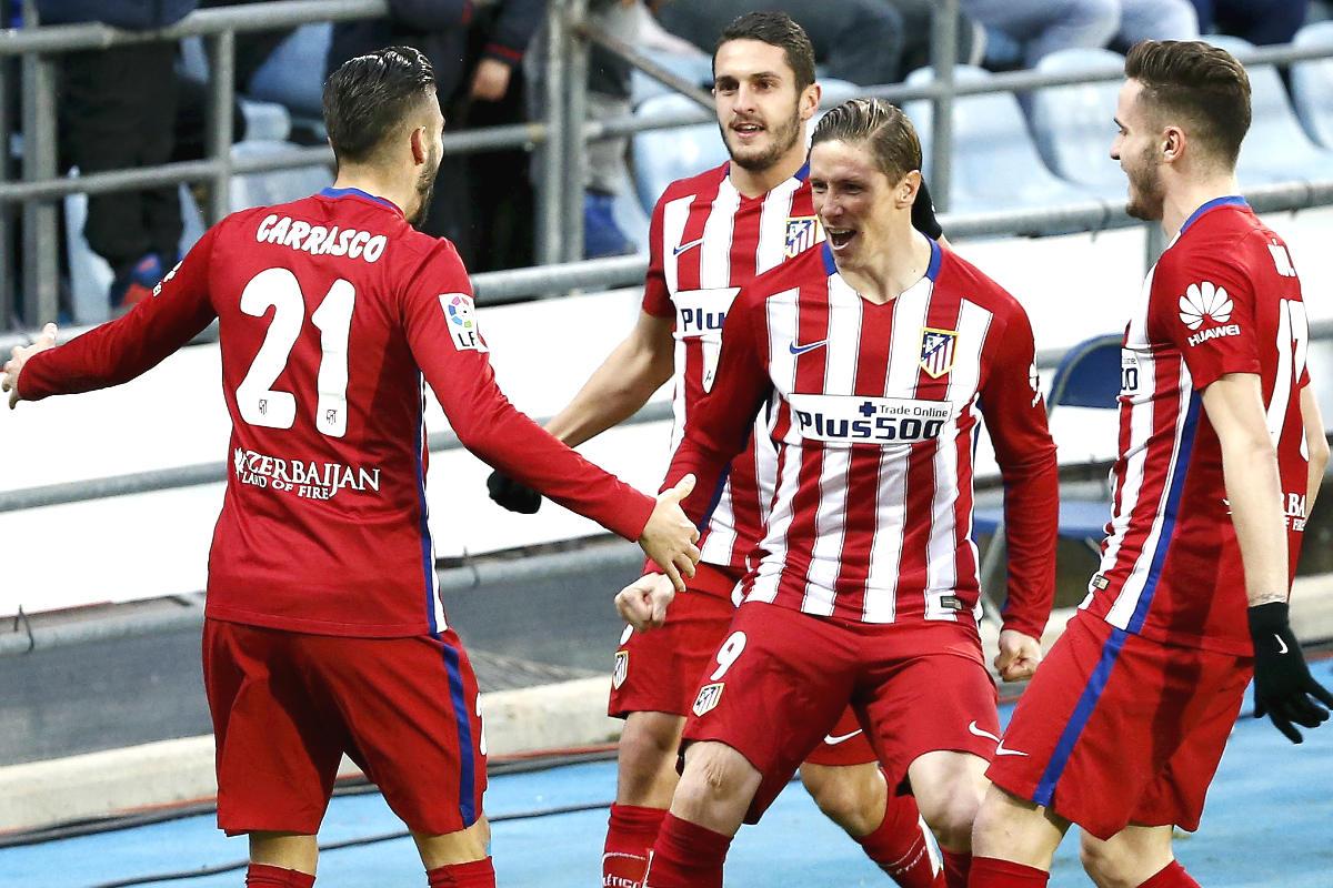 Torres celebra su gol que dio el triunfo al Atlético. (Reuters)