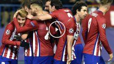 El Atlético celebra uno de los dos goles de Griezmann ante el Galatasaray. (AFP)