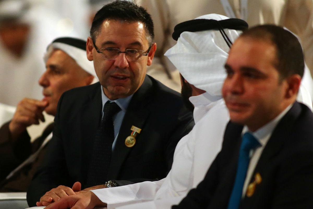 Qatar ha sacado los colores a Bartomeu. (AFP)