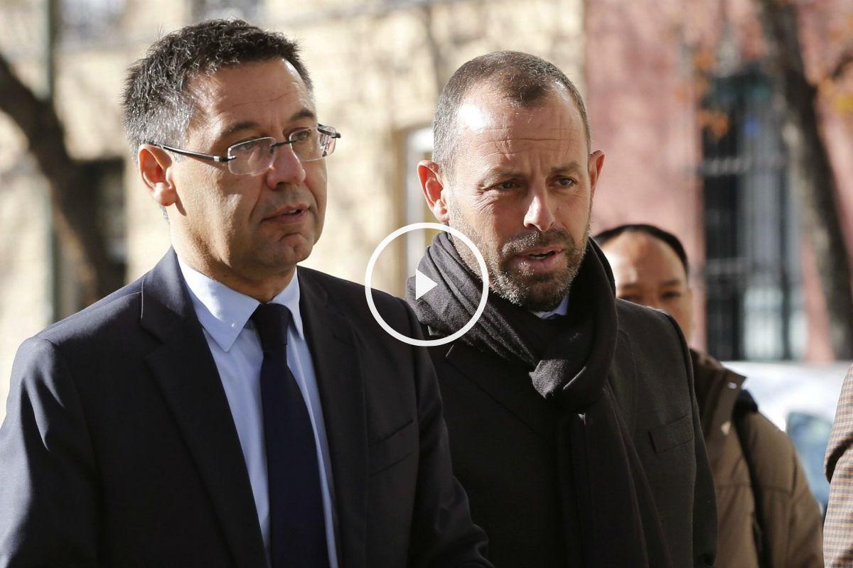 Bartomeu y Rosell declararon en la Audiencia Nacional. (EFE)