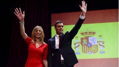 Pedro Sánchez y Begoña Gómez, en junio de 2015.