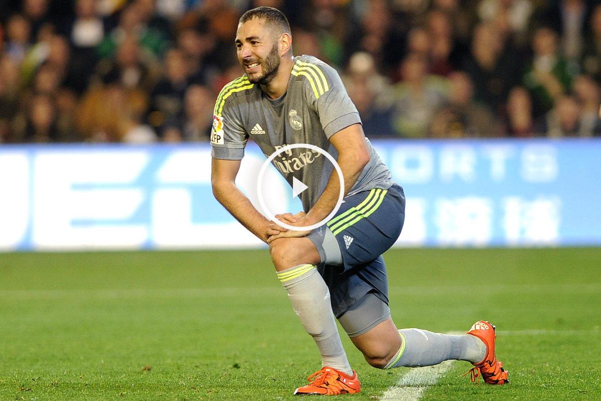 Karim Benzema durante el partido entre Betis y Real Madrid. (AFP)