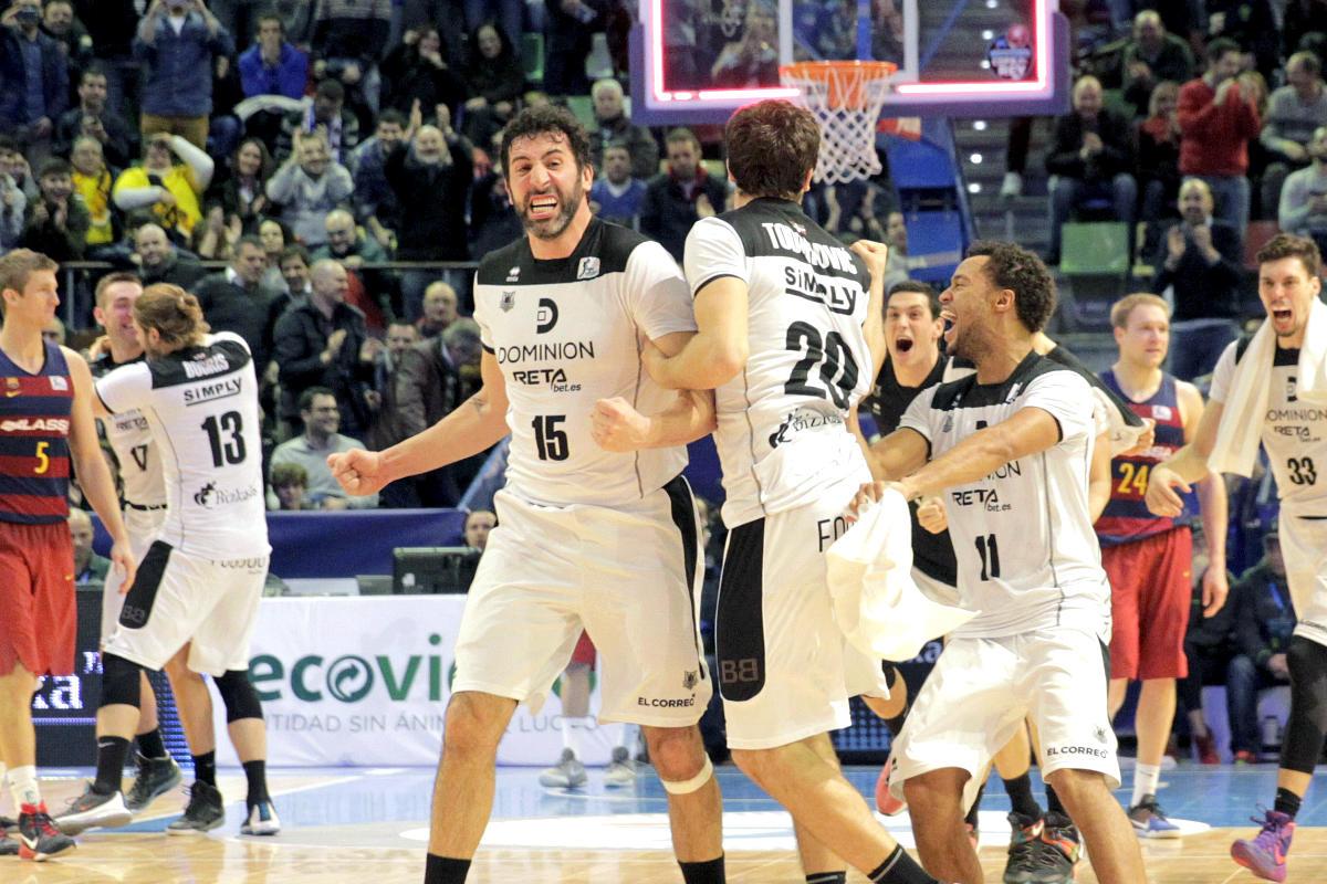 Bilbao Basket ganó al Barcelona 72-73. (EFE)