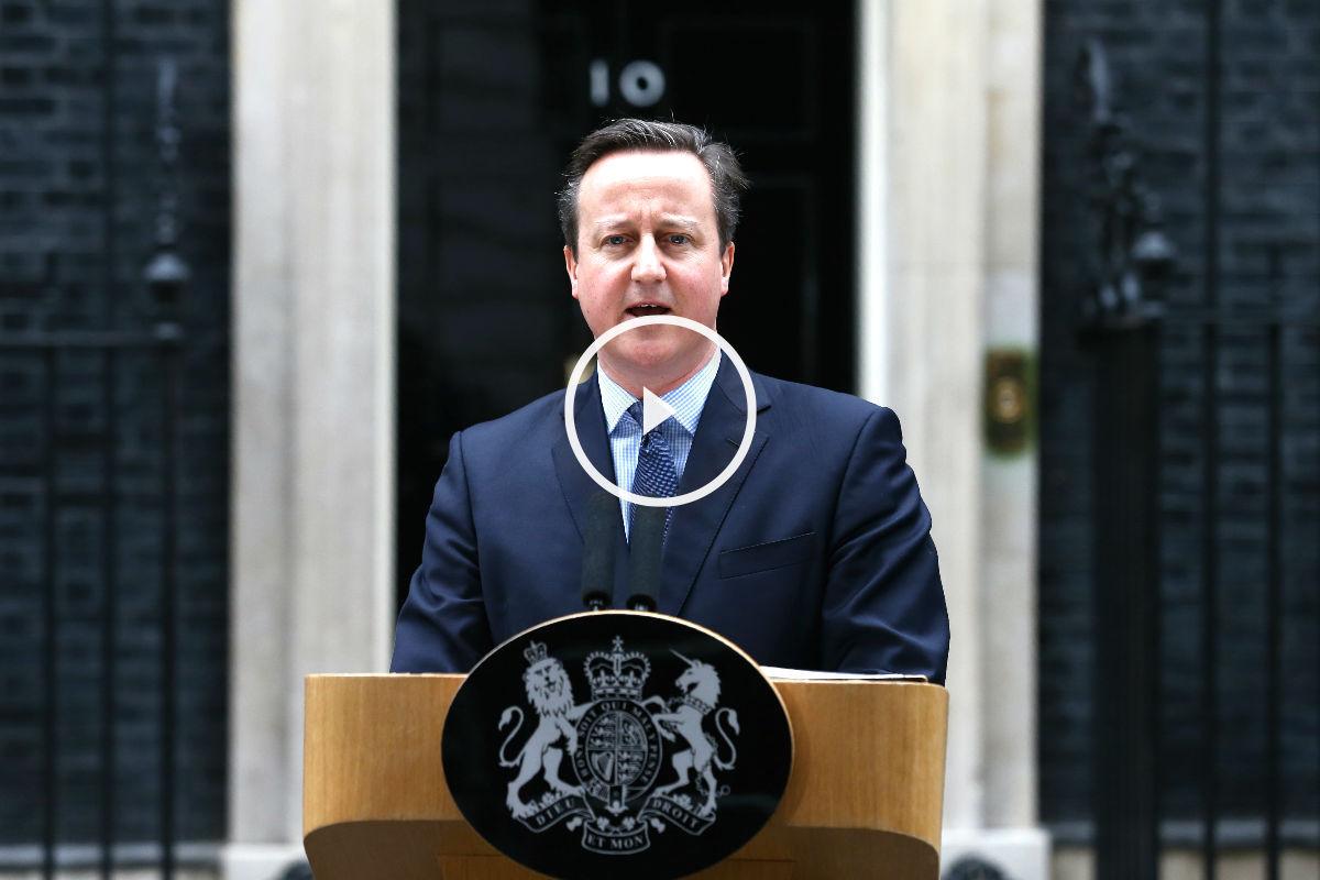 David Cameron anunciando el referéndum este sábado (Foto: AFP).