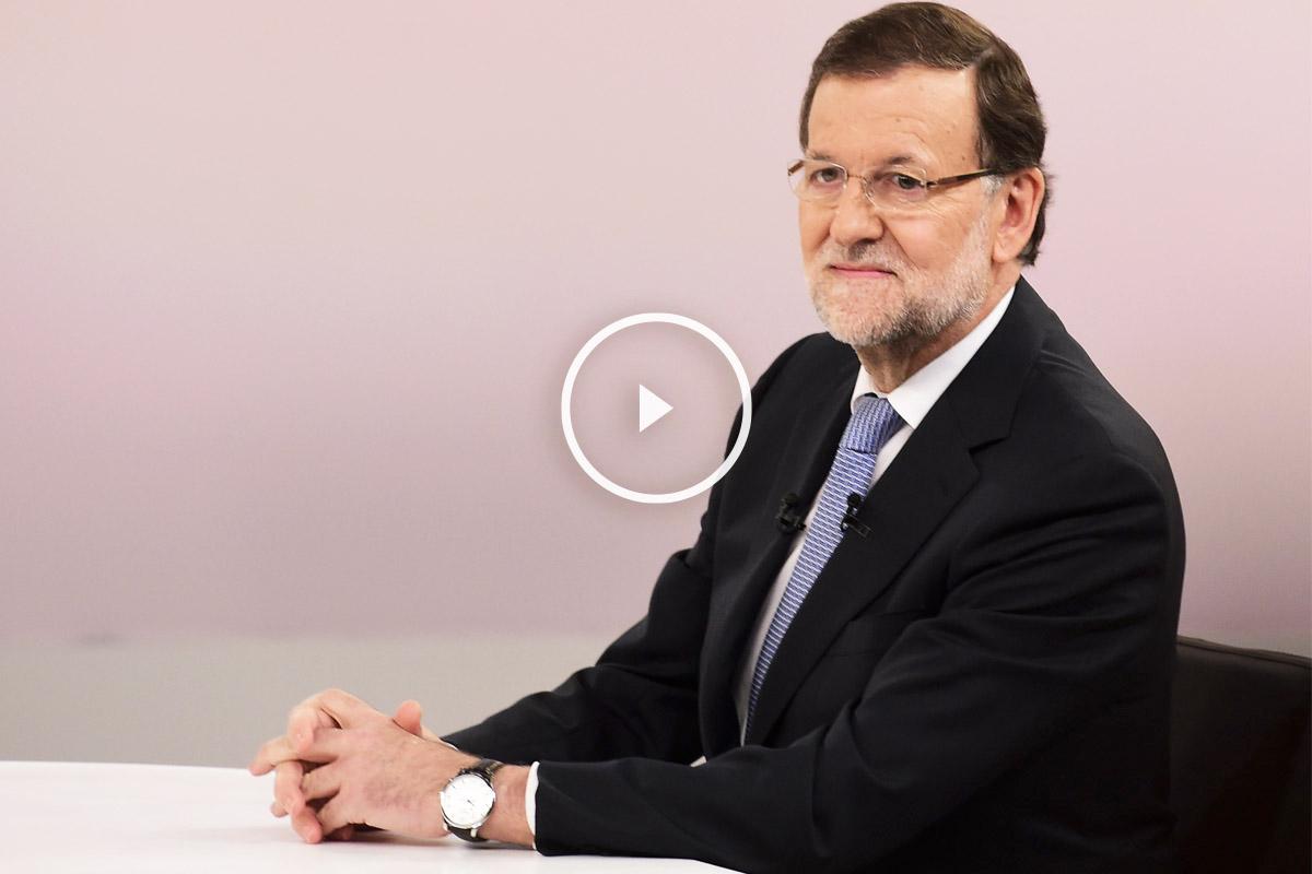 Mariano Rajoy durante el debate. (Foto: AFP)