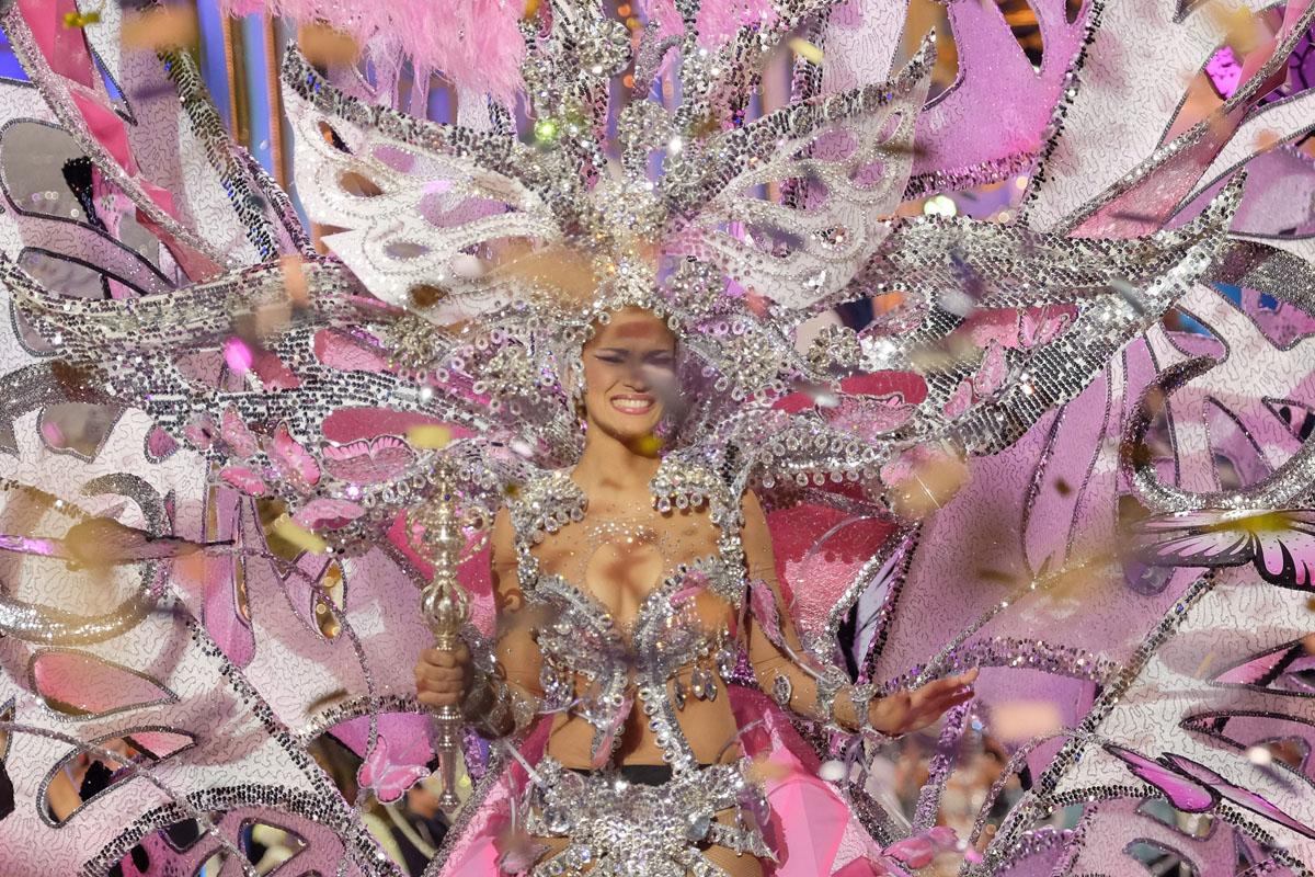 Paula Miranda, reina del Carnaval de Las Palmas 2016. (Foto: EFE)