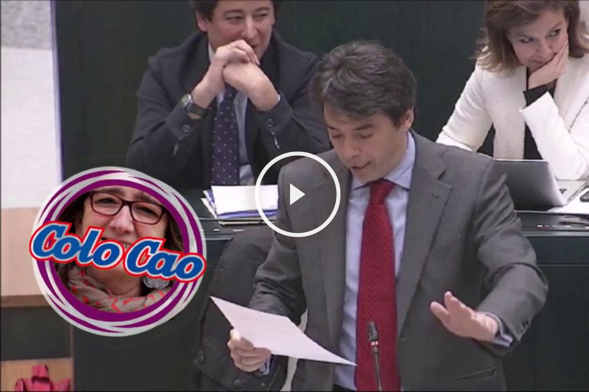 El concejal del PP Percival Manglano, durante el Pleno de hoy en el Ayuntamiento de Madrid