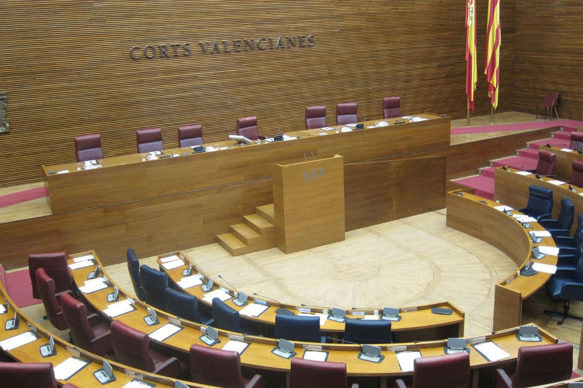 Hemiciclo de las Cortes valencianas.