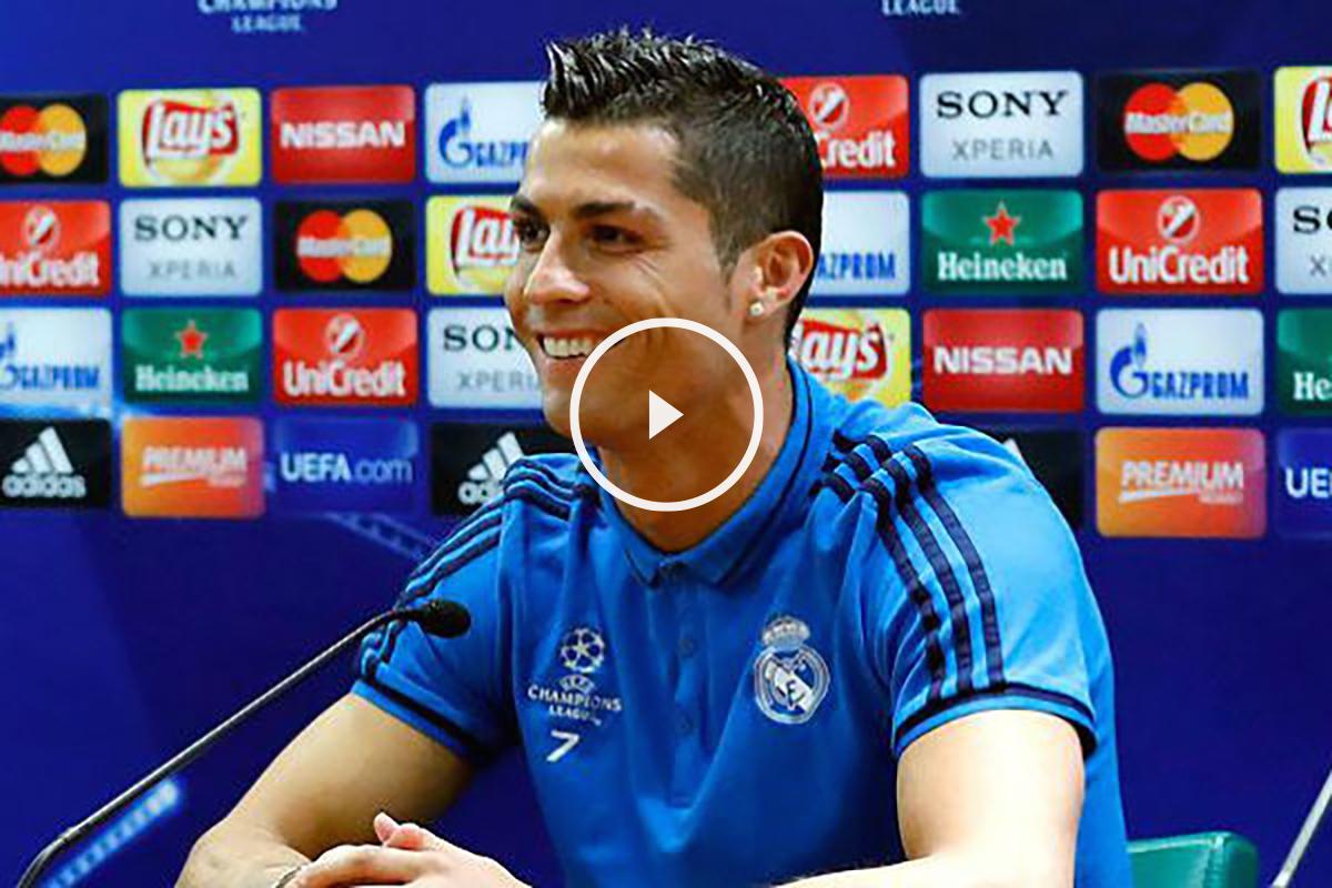 Cristiano Ronaldo atendió a los medios en Roma. (Imagen:realmadrid.com)
