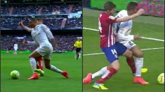 Gabi cometió penalti sobre Danilo.