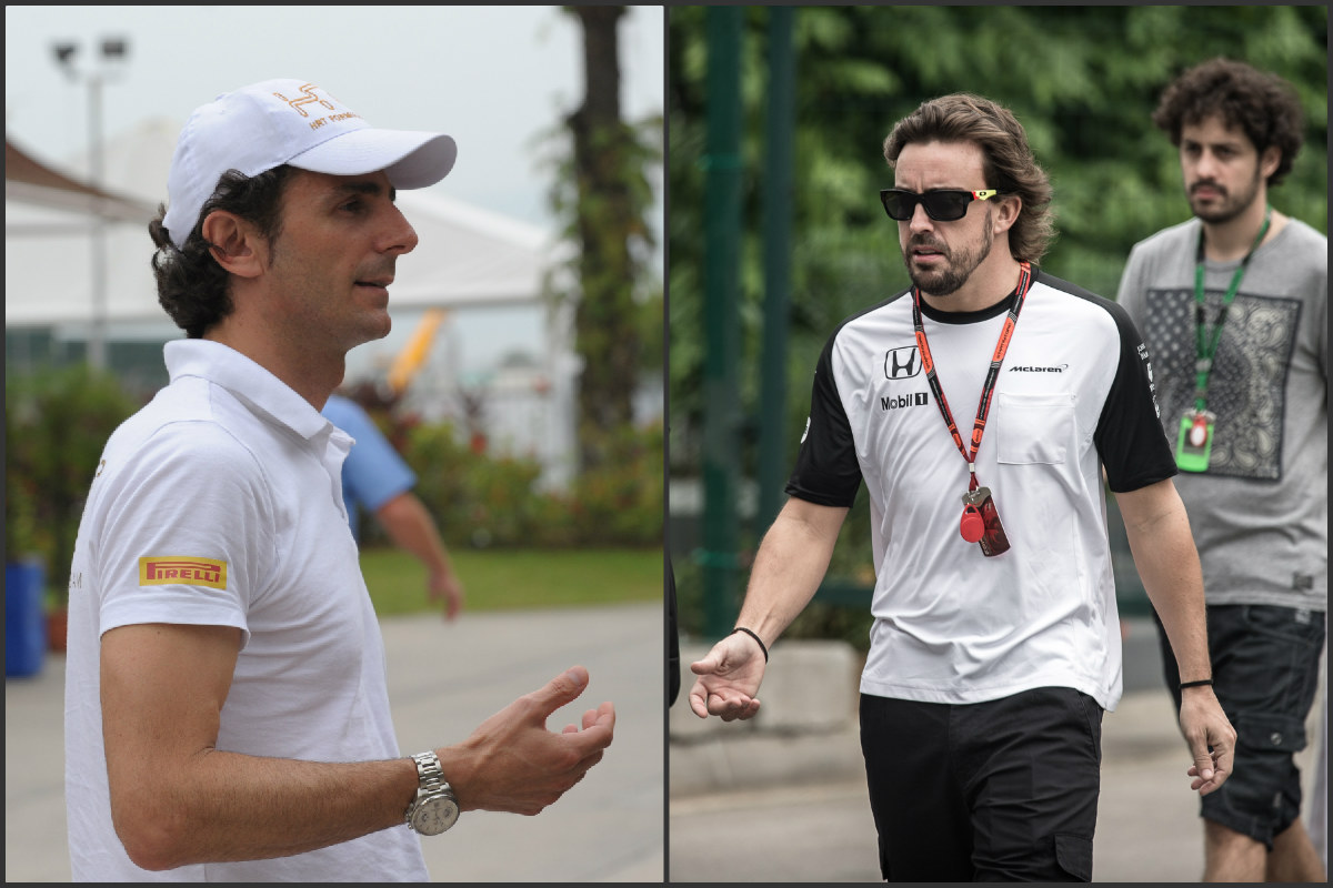 Pedro de la Rosa y Fernando Alonso.