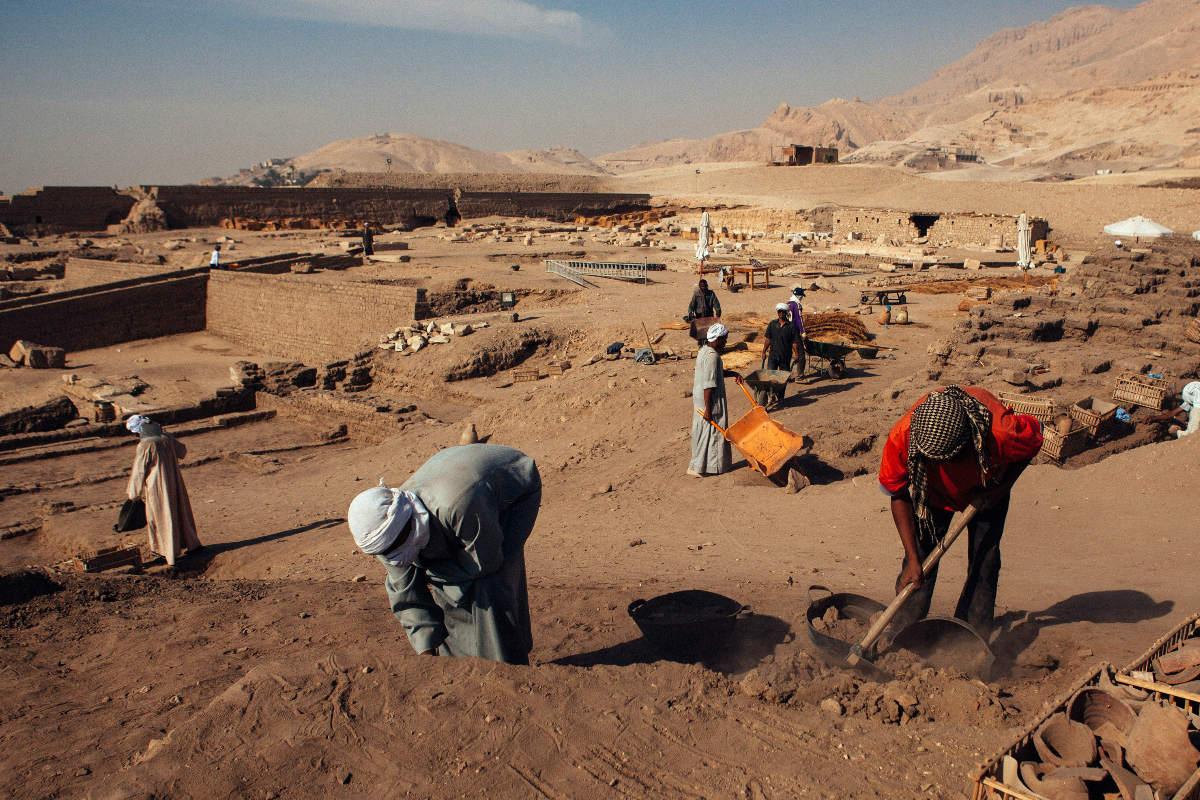 Yacimiento arqueológico cercano a El Cairo