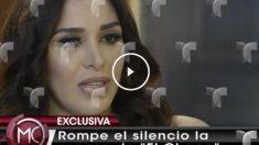 Emma Coronel en Telemundo.