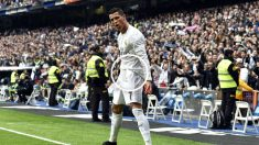 Cristiano celebra uno de sus goles al Athletic. (AFP)