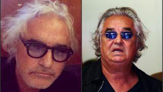 Flavio Briatore, antes y después de la operación.