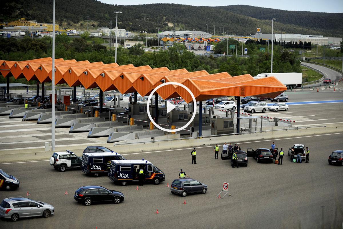 Paso fronterizo de La Jonquera. (Foto: AFP)