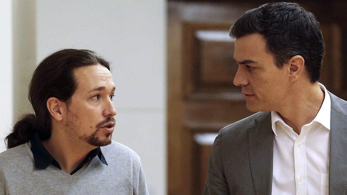 Sánchez e Iglesias en el Congreso de los Diputados. (Foto: EFE)