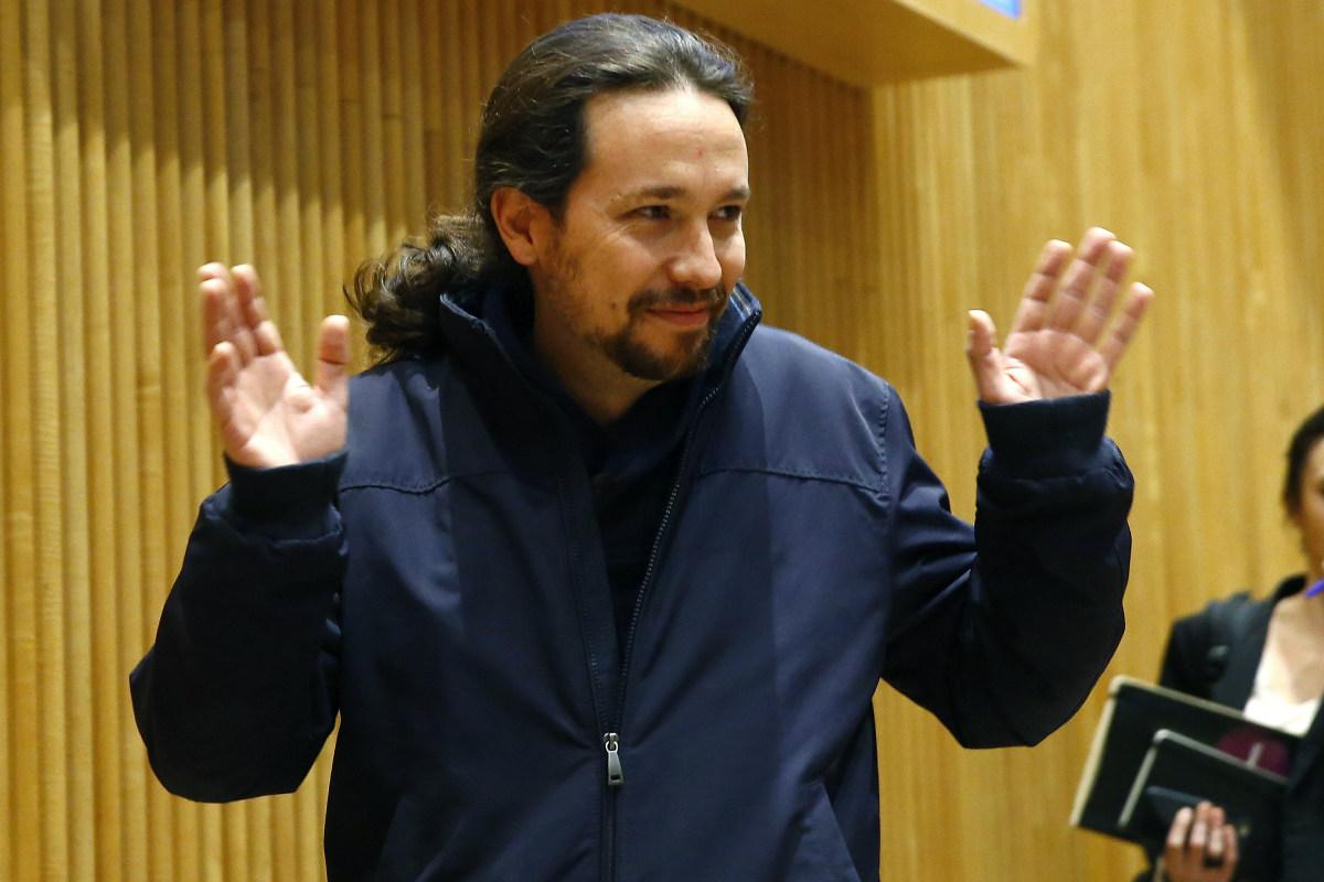 Pablo Iglesias en el Congreso de los Diputados. (Foto: EFE)