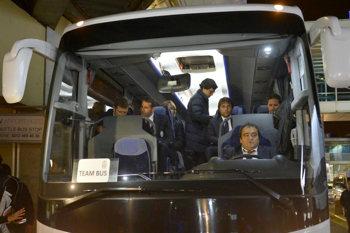 El autobús de la Juventus, en una imagen de archivo. (Getty)