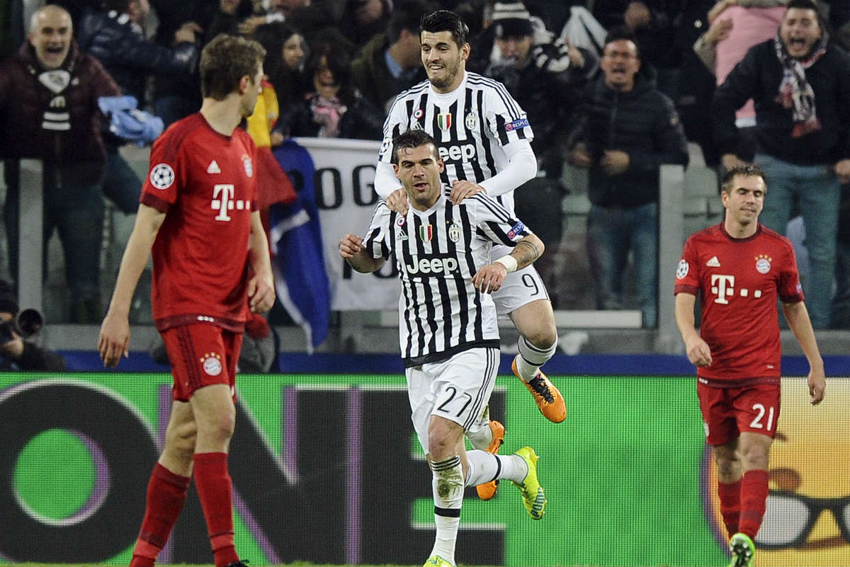 Sturaro, tras una asistencia de Morata, empató el partido. (Reuters)