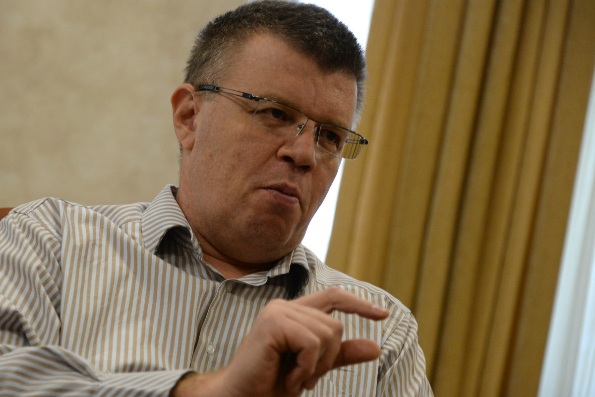 Nikita Kamaev, durante una entrevista. (Foto: AFP)