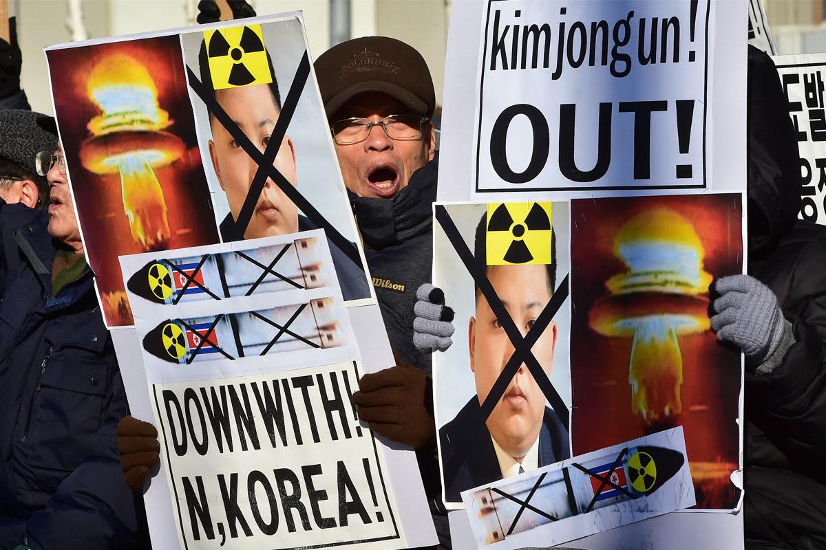 Protestas en Corea del Sur contra Kim Jong-un. (Foto: AFP)