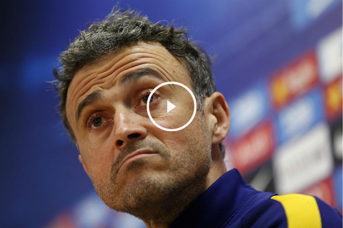 Luis Enrique, en la rueda de prensa previa al partido contra Las Palmas. (EFE)
