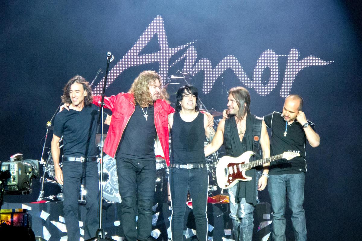 El grupo Maná durante un concierto.