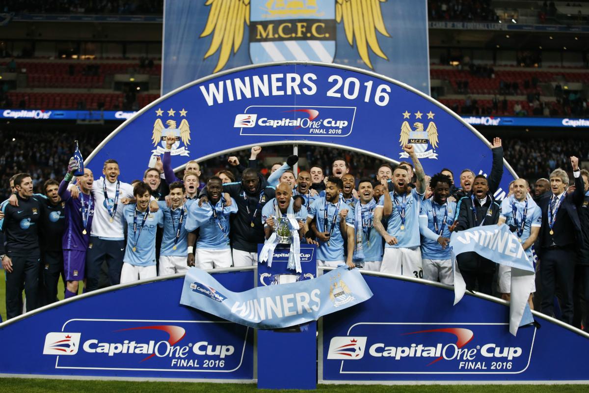 El Manchester City, campeón de la Copa de la Liga inglesa. (Reuters)