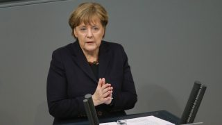 Angela Merkel, en el Bundestag. (Foto: Getty)