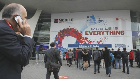 Entrada del Mobile World Congress en Barcelona (Foto:  GSMA).