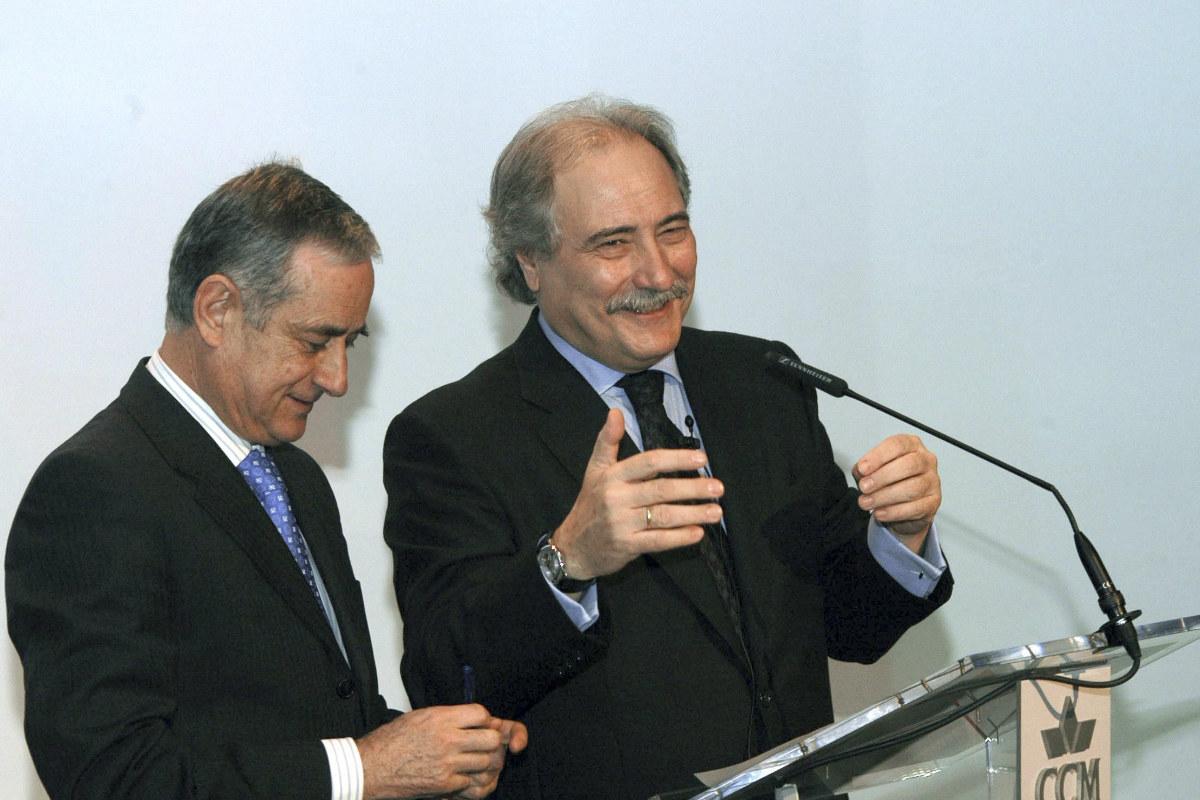 Juan Pedro Hernández Moltó (d) e Ildefonso Ortega, en su 'época dorada' en 2008. (EFE)