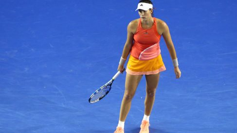 Garbiñe Muguruza, en el torneo de Dubai. (Getty)