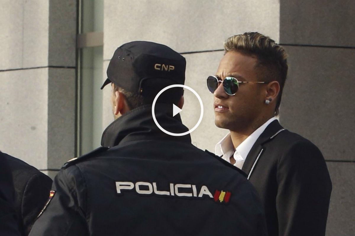 Neymar declaró en la Audiencia Nacional. (EFE)
