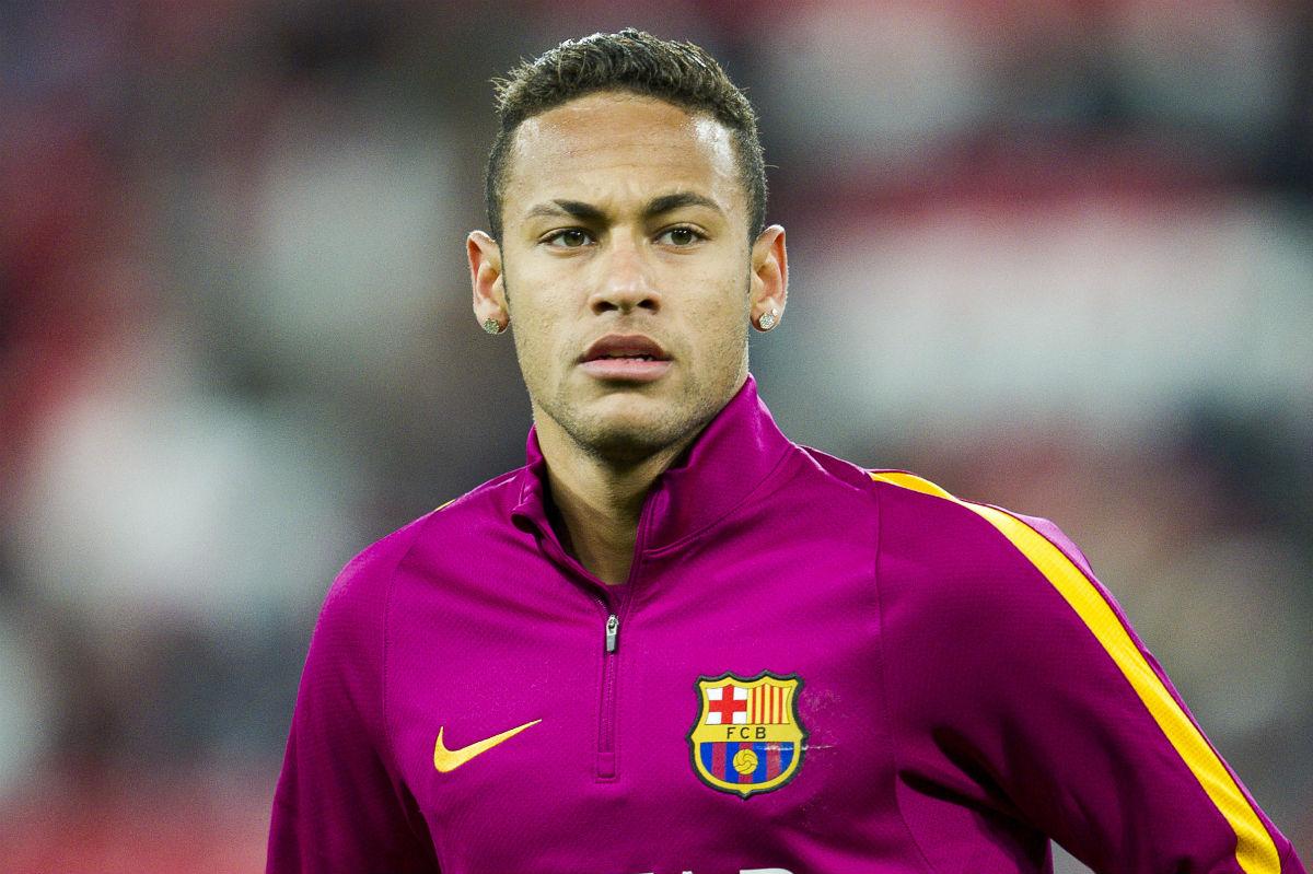 Neymar, en el calentamiento de un partido de Copa del Rey. (Getty)