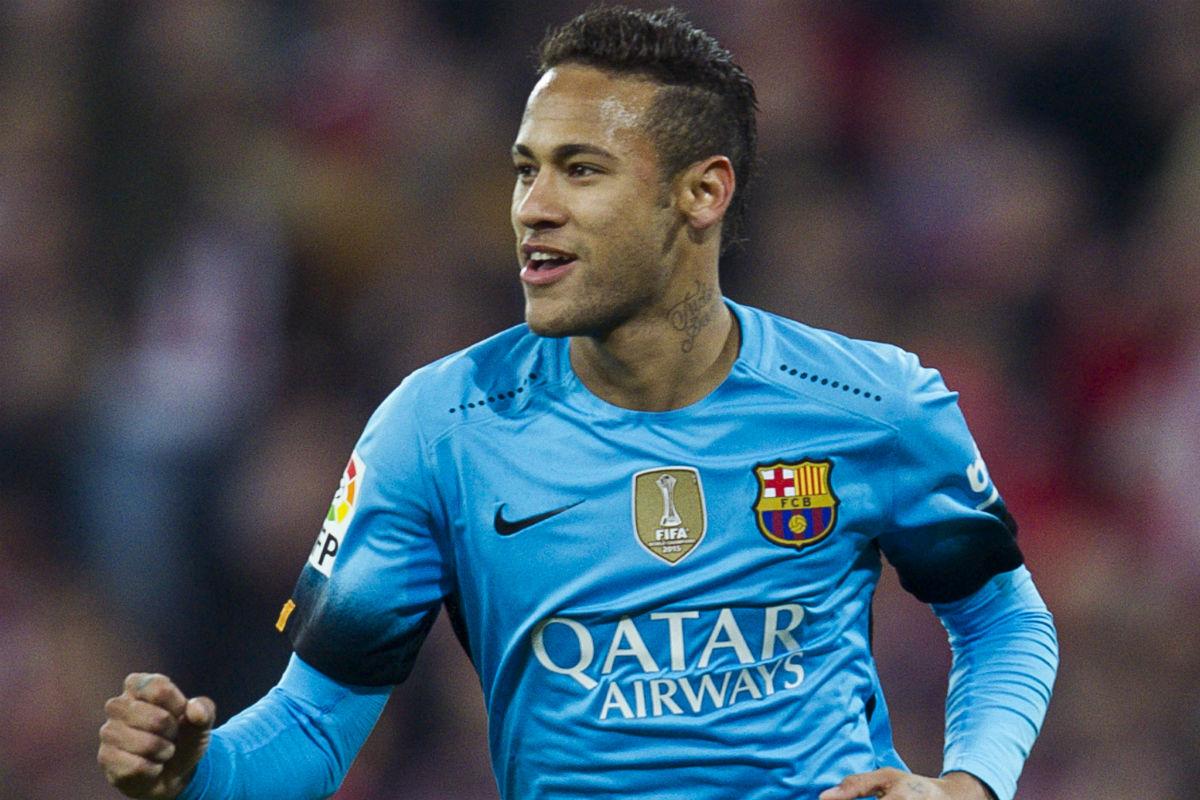 Neymar celebra un gol en la Champions League. (Getty)