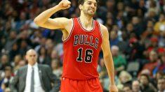 Pau Gasol, durante un partido con los Chicago Bulls. (Getty)