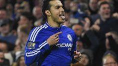 Pedro firmó un doblete contra el Chelsea. (Reuters)