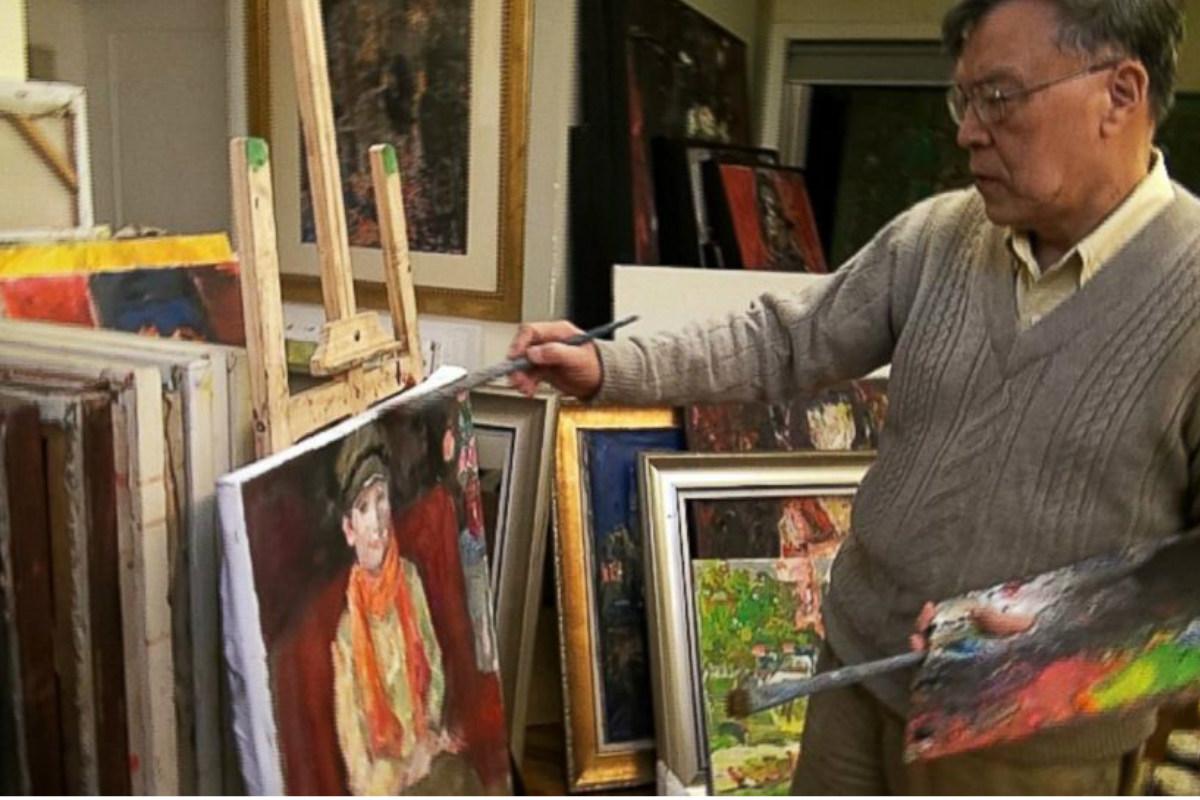 Pei Shen Qian, el artista chino de quien los Bergantiños vendían obras como originales.