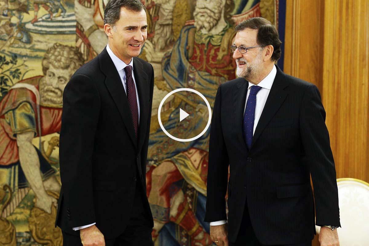 Mariano Rajoy, durante su nueva reunión con el Rey Felipe VI (Foto: EFE)