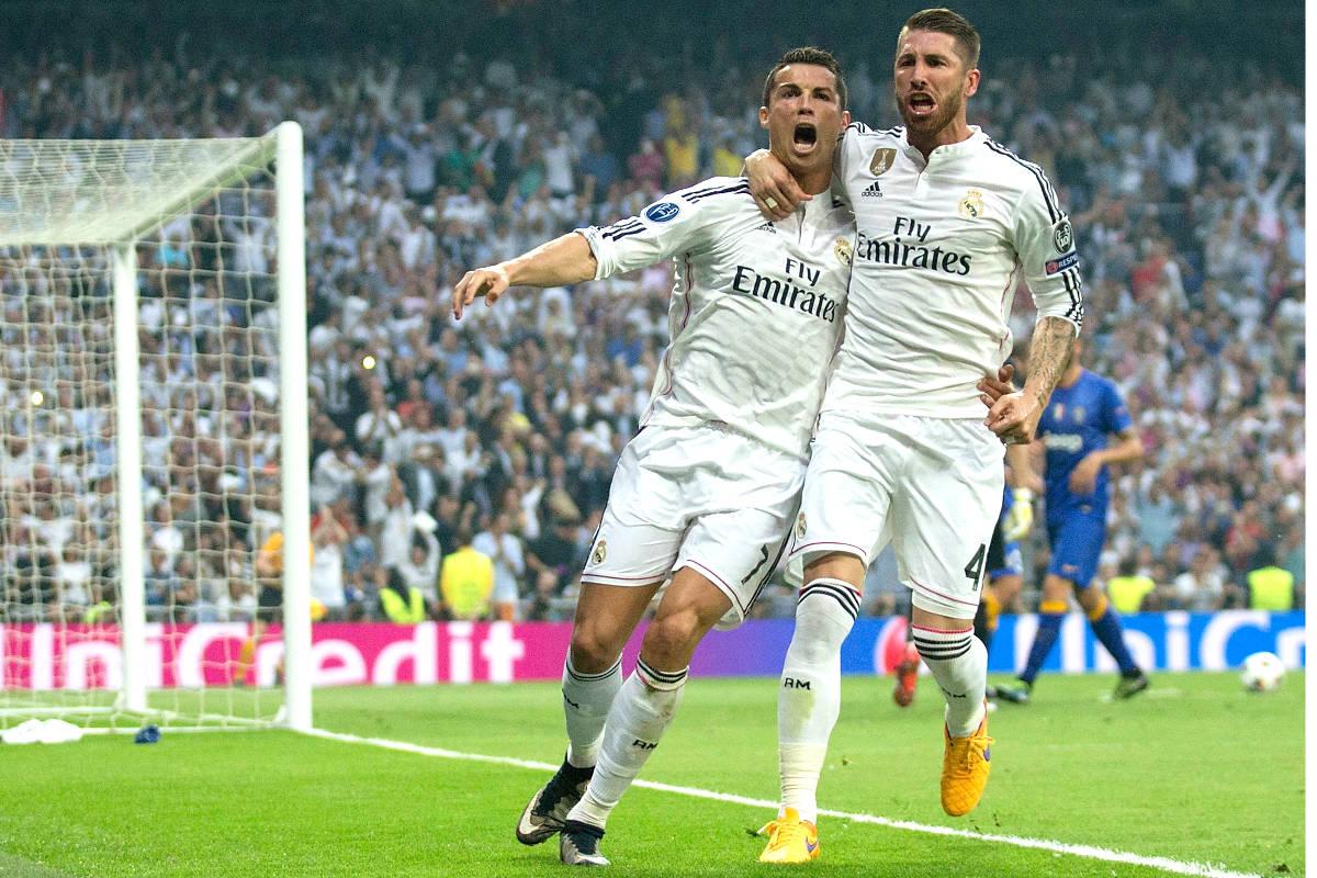 Sergio Ramos y Cristiano celebran un gol en la Champions. (Getty)