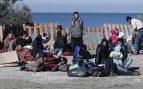 Refugiados sirios en Izmir, Turquía, tratando de pasar a Lesbos, Grecia. (Foto: Getty)