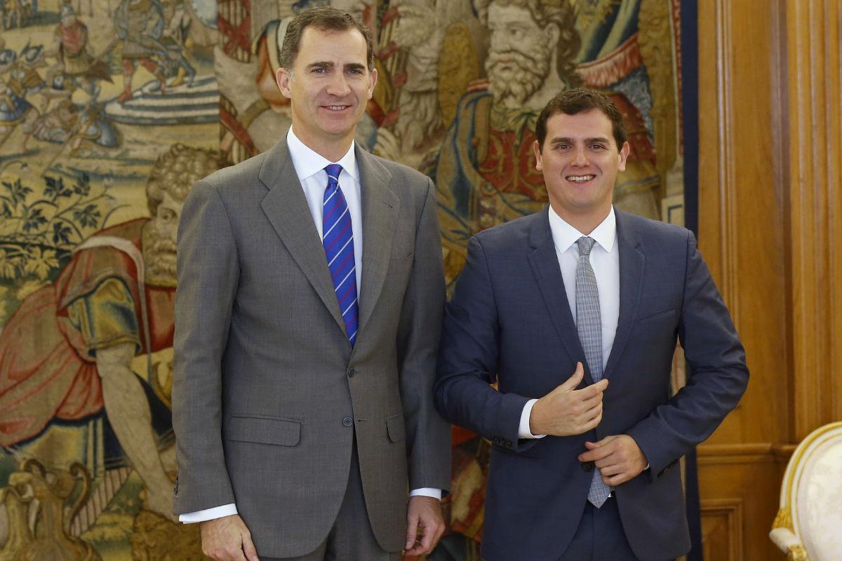 Felipe Vi y Albert Rivera en la segunda ronda de contactos del Jefe del Estado