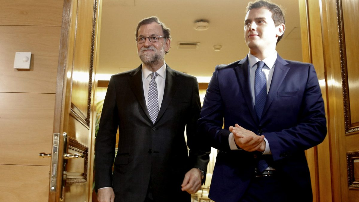 Mariano Rajoy y Albert Rivera.