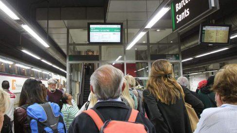 Foto de archivo de la estación de Sants. (Foto: EFE)