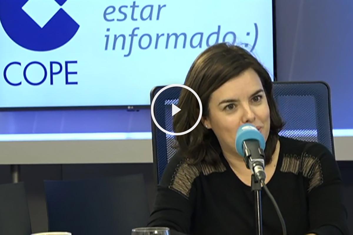 La vicepresidenta del Gobierno, Soraya Saenz de Santamaría.